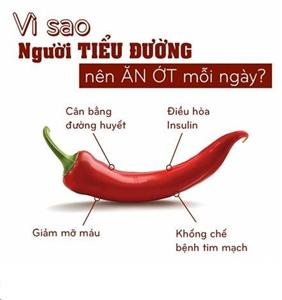 Bệnh tiểu đường nên ăn ớt